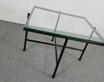 Couch coffee table glass side table mid century Danish modern vintage