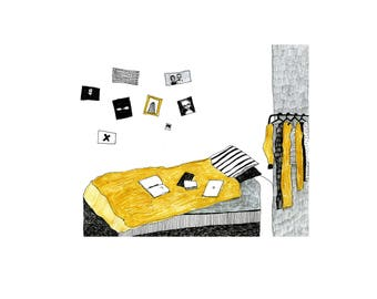 stay home | printed illustration