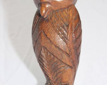 Antique African Hand Carved Owl Sculpture