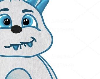 cute Cookie Monster • digital file • nursery art • kids print • printable • animal • children room • decoration • sweet • baby shower • JPG