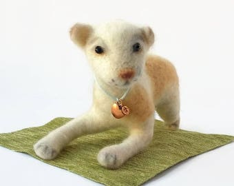 Small dog toy Felted puppy Waldorf soft toy Needle felted dog Miniature puppy Needle felted animal Miniature felt dog   Puppy soft toy