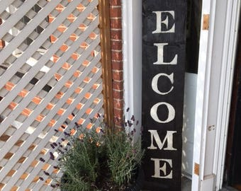 Barnboard Welcome Sign