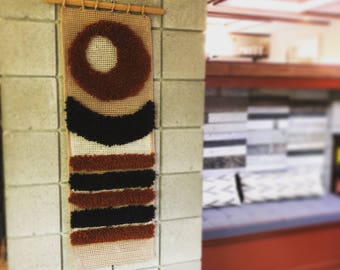 Vintage weaving // VTG weaving wall hanging // 1960 Textile Art