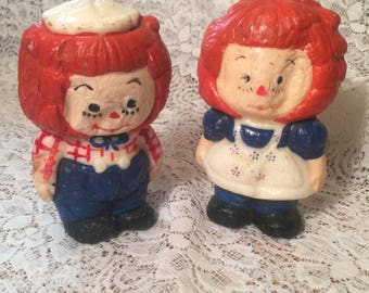 Raggedy Andy and Annie Candles