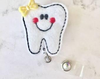 Dental Hygienist Badge Reel - Dental Assistant Gift -Cute Tooth Nursing Badge Reel - Dental Office Badge Pull - Dental Hygiene -BadgeBabesCo