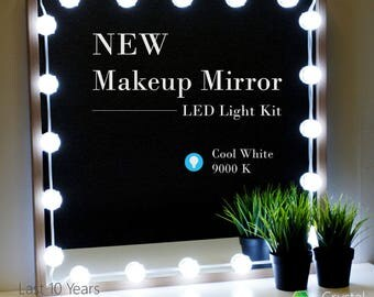 Crystal Vision Makeup Mirror LED Light Kit Provided by Samsung for Vanity Mirror w/ Dimmer Controller (25 LED Light / 10ft) [Cool White]