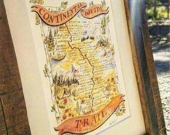 Cdt Trail Etsy - Cdt trail map