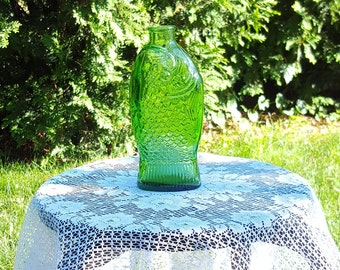 Green Dr Fish's fish shaped bitters bottle