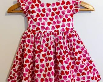 Valentine Dress, Girls Valentine Dress, Baby Valentine Dress, Valentine  Baby Dress, Girls