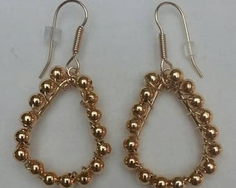Small Gold Looped Teardrops (#121)