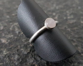 Silver ring with gemstone 5mm