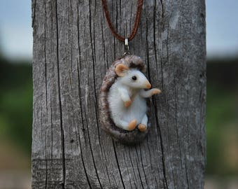 girl gift for daughter cute gift for friend cute animal jewelry nature jewelry pendant animal lover gift hedgehog woodland animal pendant