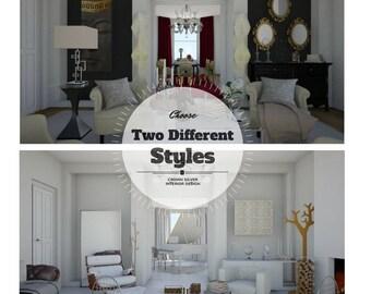 E- Design Package Living Room