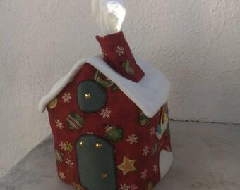 Porta scarves/Handmade/patchwork handkerchief holder