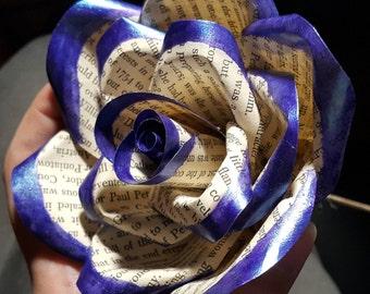 Purple Sheen Tipped Paper Rose