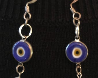 Evil eye beads and pearls