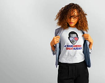 Obama Shirt, Make America Great Again, Anti Trump, MAGA, USA, Red White and Blue, Funny 4th of July Women's, Bring Obama Back, Michelle 2020