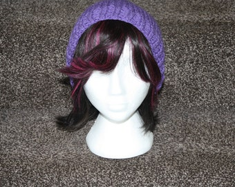 Slouchy, fruity beanie hat with stalk!