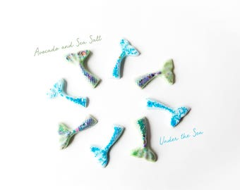 Under the Sea | Avocado & Sea Salt | Wax Melts (2.5 Oz) - Hand Poured Wax Melts - Mermaid Tails - Mermaid - Scented Wax - Fresh Wax Melts