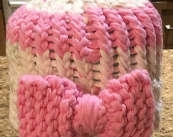 Knitted Baby Hat With Bow