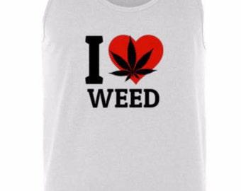 Weed Heart Tank