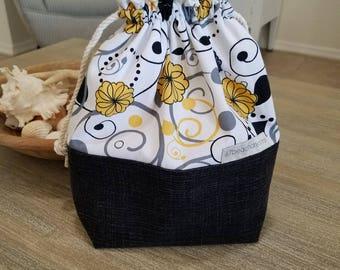 Knitting Project Bag, Project Bag, Crochet Project Bag, Sock Project Bag, Gift Bag