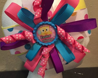 Easter multicolored HairBow/ headband