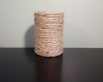 Tin can wrapped with twine