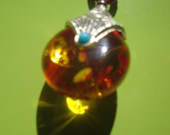 Autumn fire pendant necklace