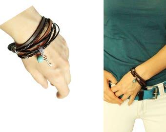 boho bracelet boho jewelry wrap bracelet tribal bracelet gemstone bracelet brown bracelet summer bracelet beach jewelry beach bracelet