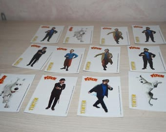 set of 12 cards TINTIN collection
