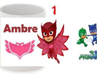 "Personalized mug ""pyjamasques"""