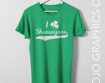 Shenanigans Shirt - St. Patricks Day Shirt, Irish Tee, Mom Shirt, Mom Gift, Mom T-Shirt, Holiday Shirt, Get Lucky Shirt, St Patricks Day Tee