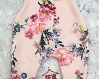 Blush Floral Pull Up Romper