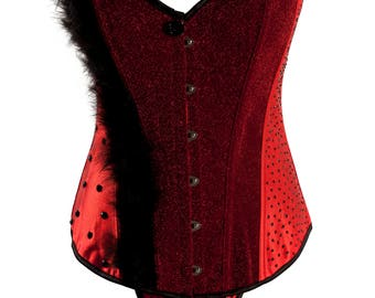 Red Satin Over Bust Corset