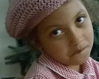 Children's , teens',crochet beret, hat, all ages, various colours