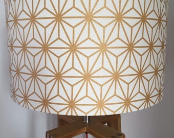 Geometrical Gold Star Lampshade