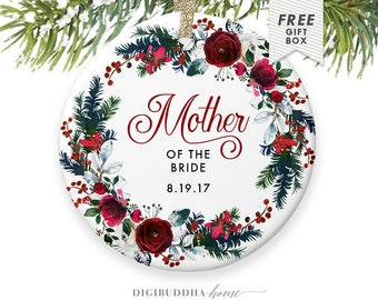 Mother of the Bride Gifts from the Bride 2017 Wedding Christmas Ornament, Mother of the Bride Gifts from Her Daughter to Mother Wedding Gift