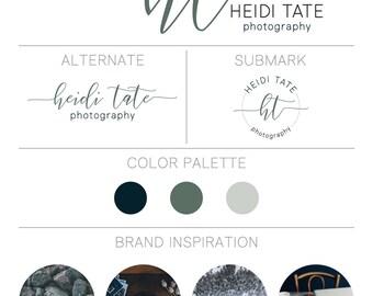 Branding Kit, Branding Package, Premade Branding Kit, Premade Branding Package, Logo Design, Premade Logo, Brand Identity - Cool Sage