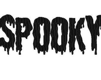 halloween slime spooky embroidery font PES file instant download slime letters
