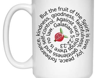Fruit of the Spirit Galatians 5:22-23 Bible Verse Christian Mug