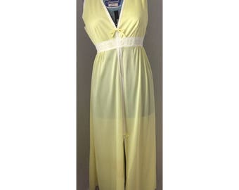 Vintage Lemon Yellow Slip Dress Medium
