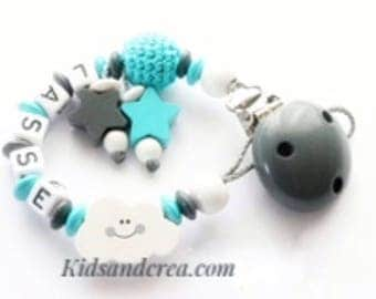 Boy personalized pacifier pacifier