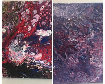 Abstract Pour Paintings