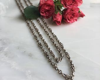 """Victorian Sterling Silver 28"""" Chain"""
