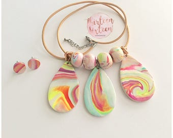 Wave Statement Necklace & Earring Gift Set