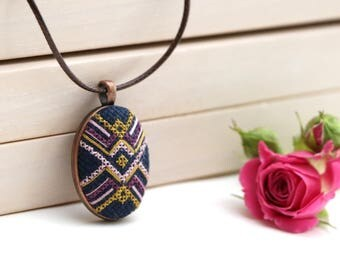 Cross stitch jewelry, embroidery jewelry, cross stitch pendant, necklace cross stitch, cross stitch necklace, embroidered pendant