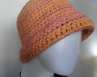 Hat / Crochet / Winter Hat / Spring Hat / Bulky Hat / Women Hat / Wool Free / Gift / Boho / Hippy / Artist