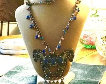 2 Horse Necklace