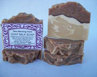 New Morning Farm Goat Milk Soap White Tea and Ginger